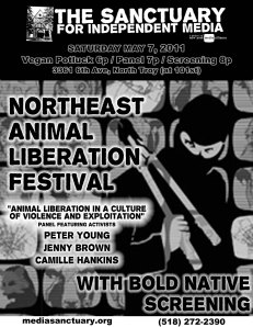 flyer for Northeast Animal Liberation Festival